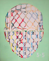 Jeff Koons/Pyramid Series, acrylic on canvas