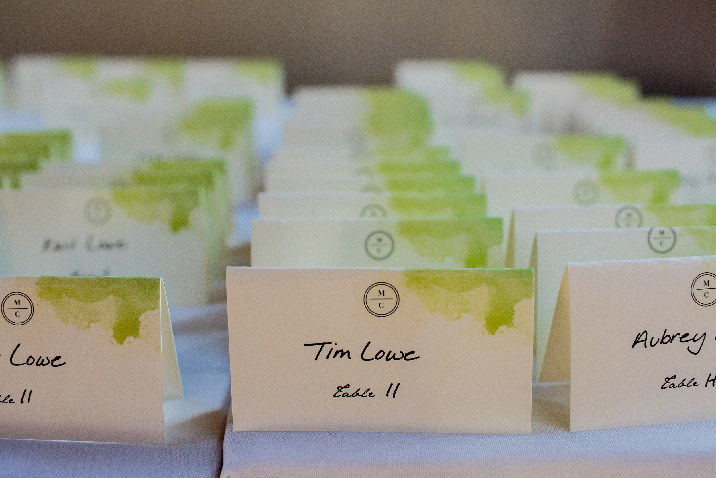 Cameron + Marie Placecards