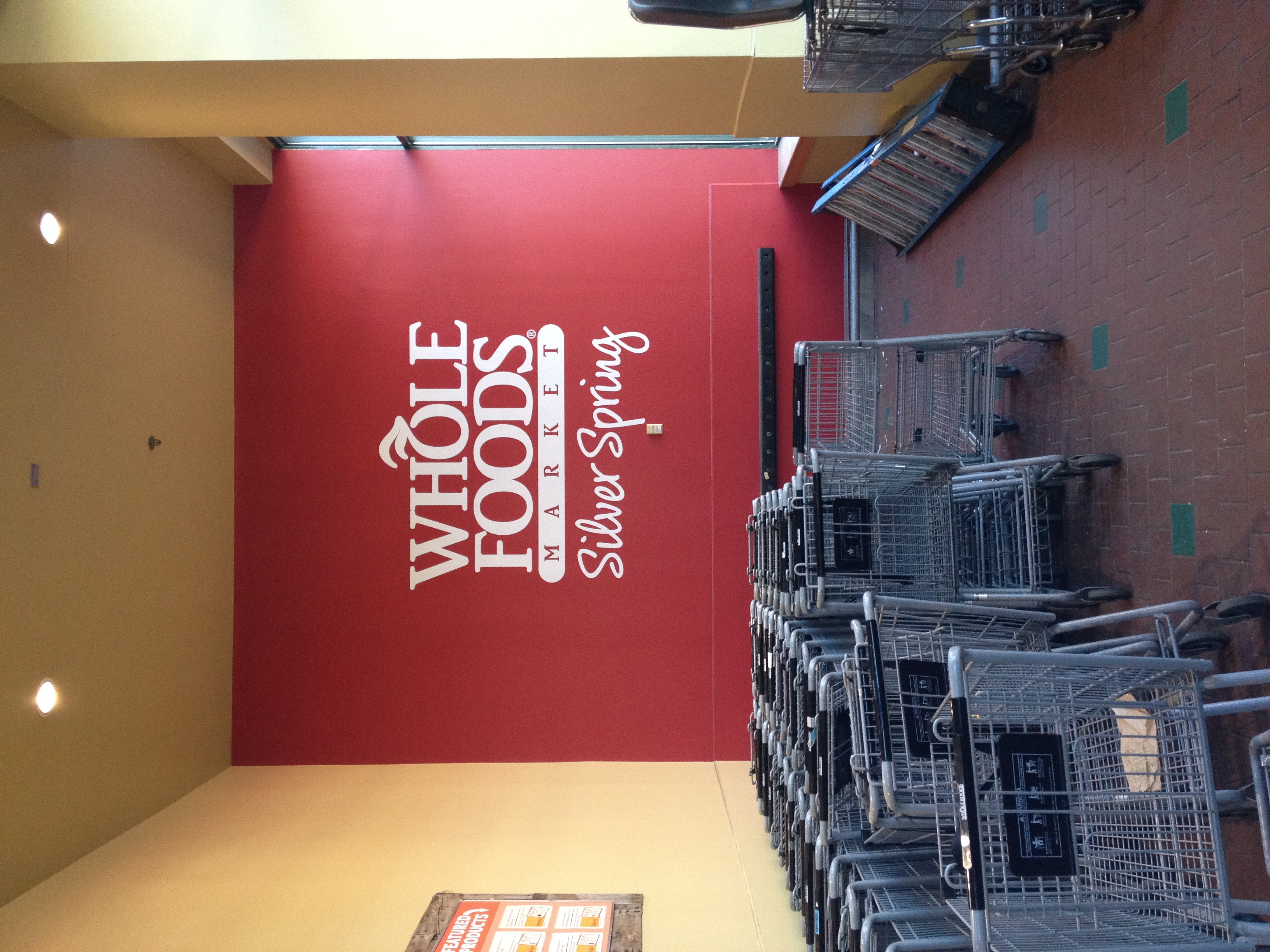Large-scale vinyl wall application for Whole Foods Silver Spring