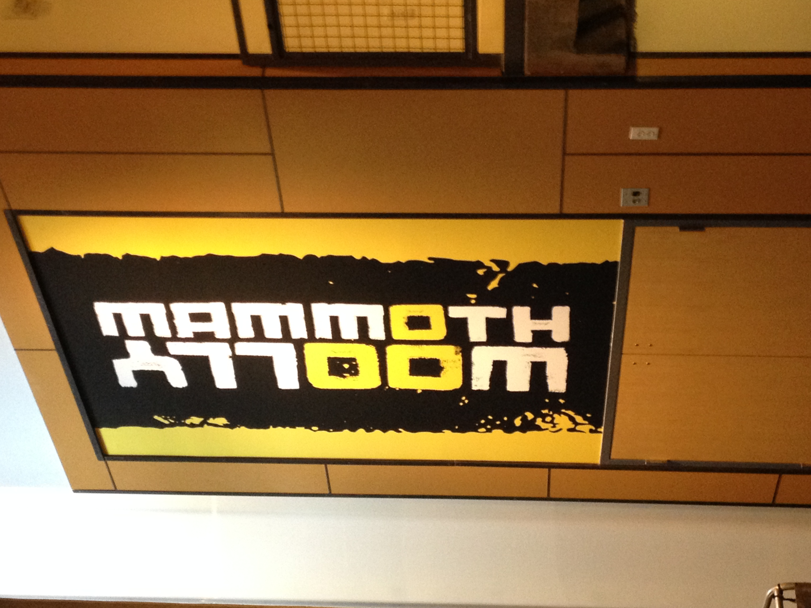 Full color print on adhesive wall fabric for Wooly Mammoth Theatre