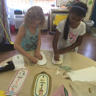 """Working on Hieroglyphics during """"Art Through the Ages."""""""