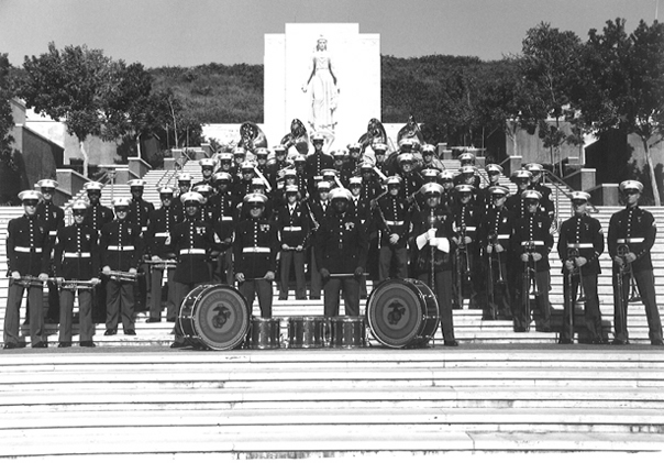 Fleet Marine Force Pacific Band at Punch Bowl National Cemetery, Honolulu, Hawaii, September 1984
