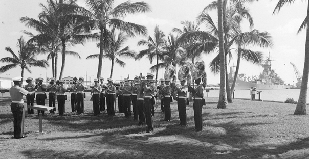 Fleet Marine Force Pacific Band Performing at the USS Arizona Memorial Visitor Center Pearl Harbor, Hawaii, July 1985