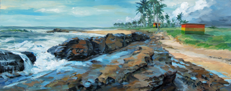 Black Rocks of Elmina Bay