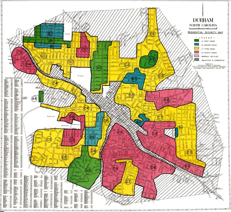 The Redlining of Durham, North Carolina