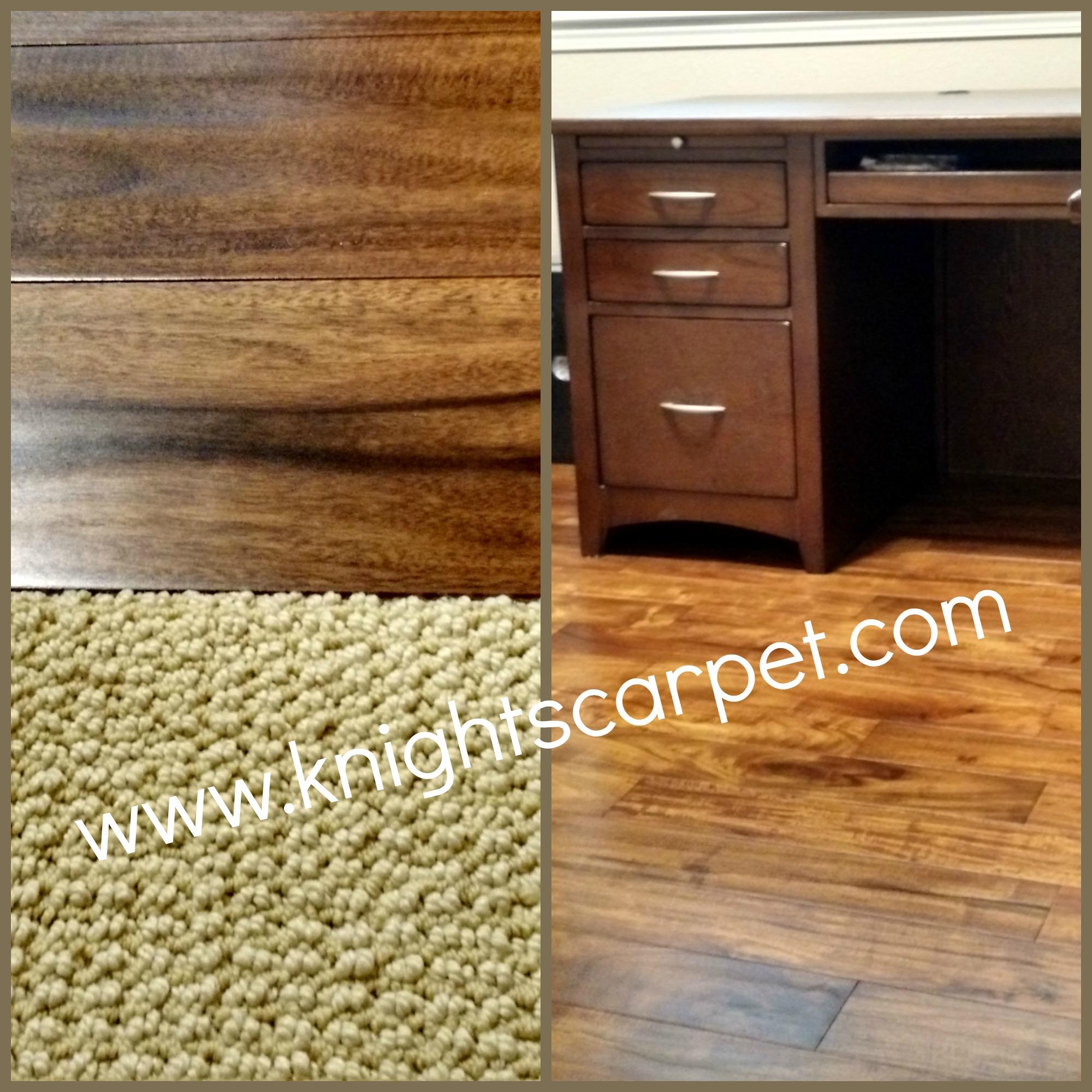 Hardwood meets Carpet