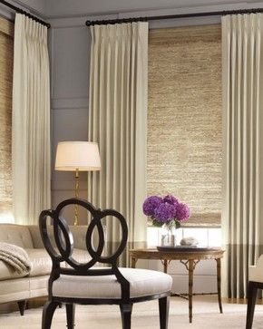 Add sheery elements of texture and light for stunning effects. The drapery does the work of insulating. It's all in the layering. -