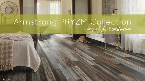 Newest to our Showroom is Armstrong's PRYZM. A hybrid floor with a rigid core design that is engineered for homeowners who desire the look of authentic hardwood floors without the worry. ShowStopper. Hybrid Laminate. Waterproof.