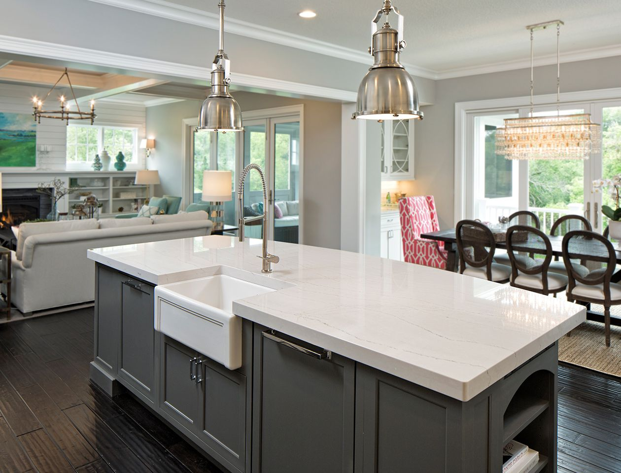 3. Eat Healthy - When you have a busy schedule with kids and pets underfoot, the trick is to plan, prep and prepare meals ahead of time. Our favorite design strategy to accomplishing this task is updating the kitchen with new solid-surface countertops and the addition of a food-prep island. The kitchen is one of the only rooms in the home where a make-over will increase your home's appraisal.