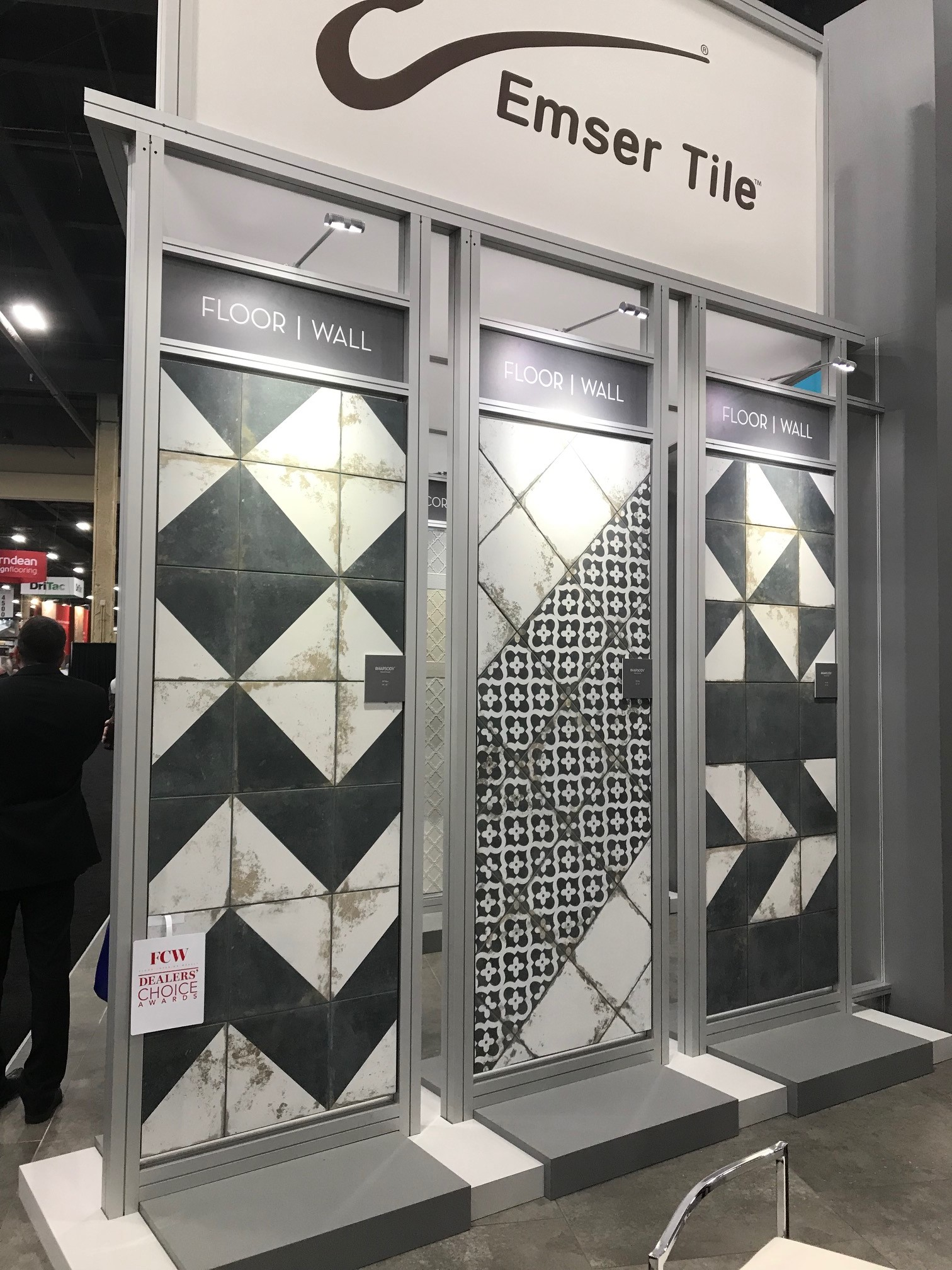 Emser Tile's showcase is the WOW factor our floors have been waiting for! Award-winning designs with new patterns and colorways is a vision in RHAPSODY. Sampling soon in our showroom.