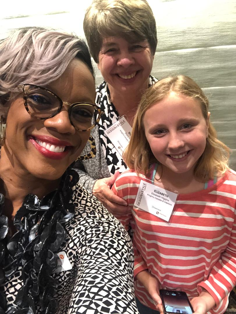 Selfie Alert! - I am one proud Grandma to have my new assistant, Libby, accompany me through the trials of motorization (more on that later). Pictured here with our awesome Hunter Douglas Rep, Toni Huggins.