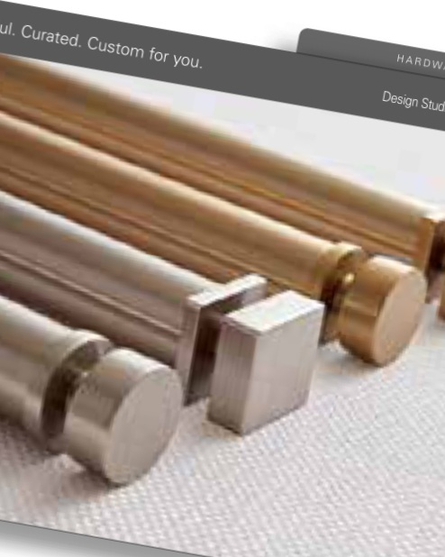 DECORATIVE DRAPERY HARDWARE - With the New Design Studio a small selection of drapery hardware will be available with the option of PowerView motorization.