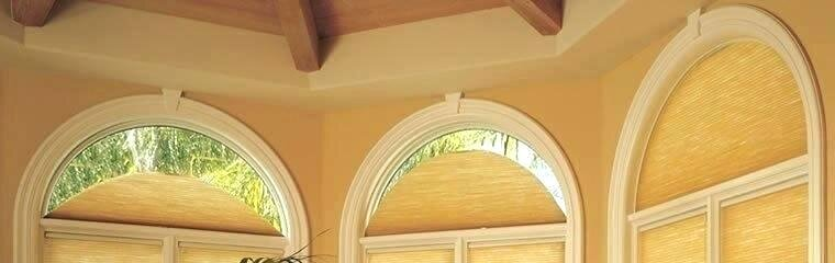 Perfect arch windows allow for movement of your shades, often not requiring a template. Want to see more arch window treatments? Click the pic.