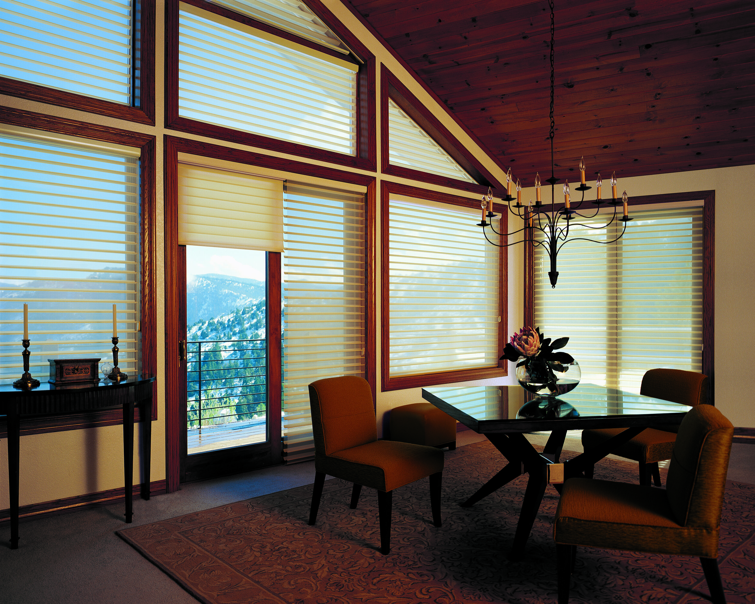 Closing and opening shades on upper windows is no longer a hassle with motorized window coverings. Learn more on motorization by clicking the pic.