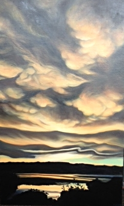 """Billowing Clouds."" Oil on linen."