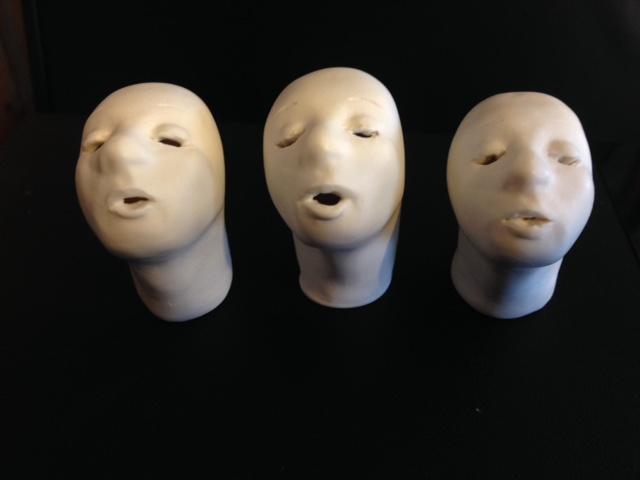 """""""Three Tweets."""" Ceramic. Josephine Regan."""
