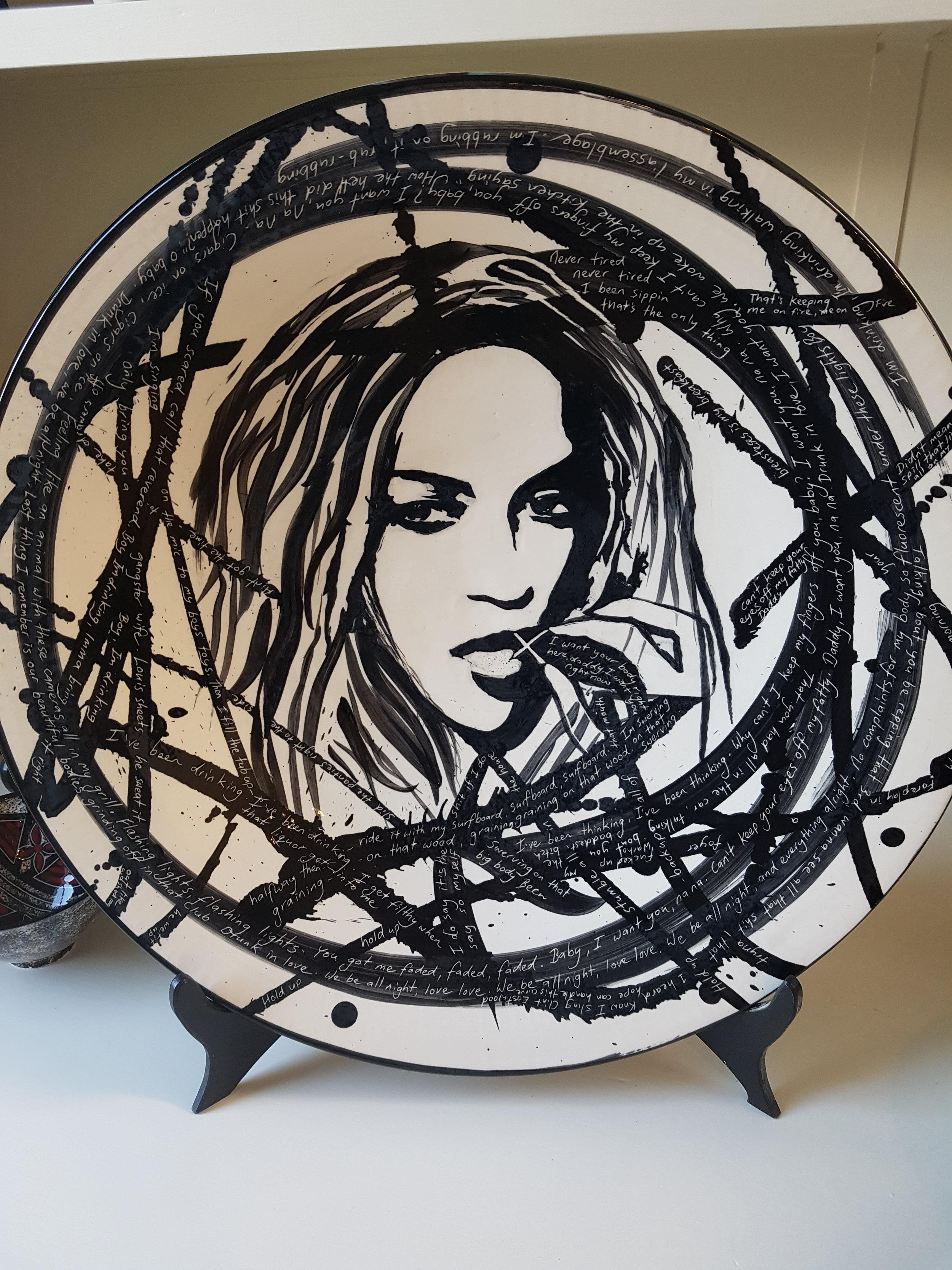 Beyonce Platter. Ceramic. Jengis Poor.