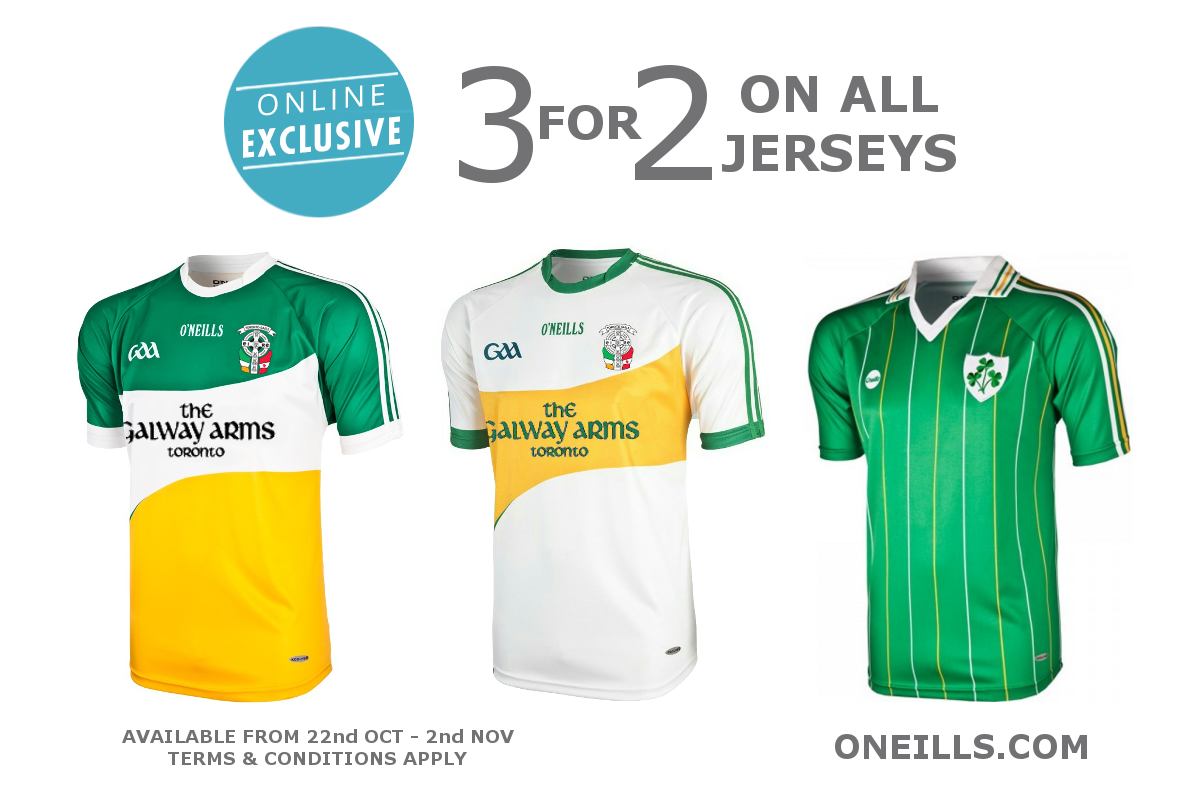 Oneills 3 for 2 jersey offer 2015.png