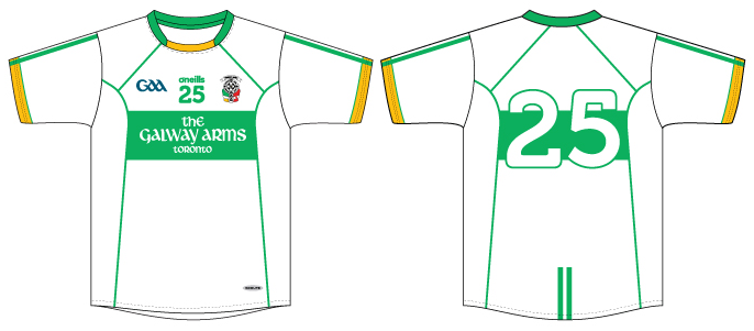 Toronto Gaels 2018 White Away Jersey CAD 85574-4.png