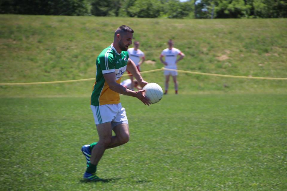 Eoin Delaney in action for Toronto Gaels