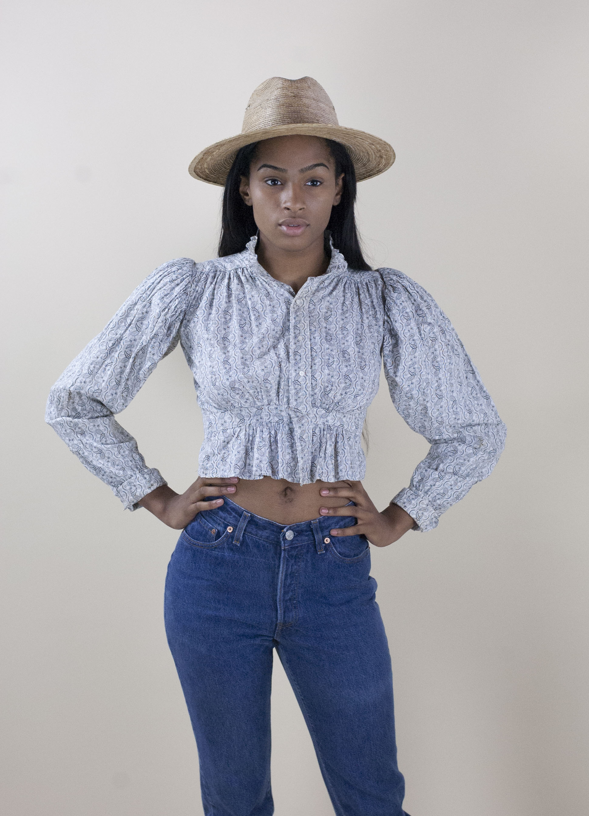 Wayward Collection Victorian Calico Blouse