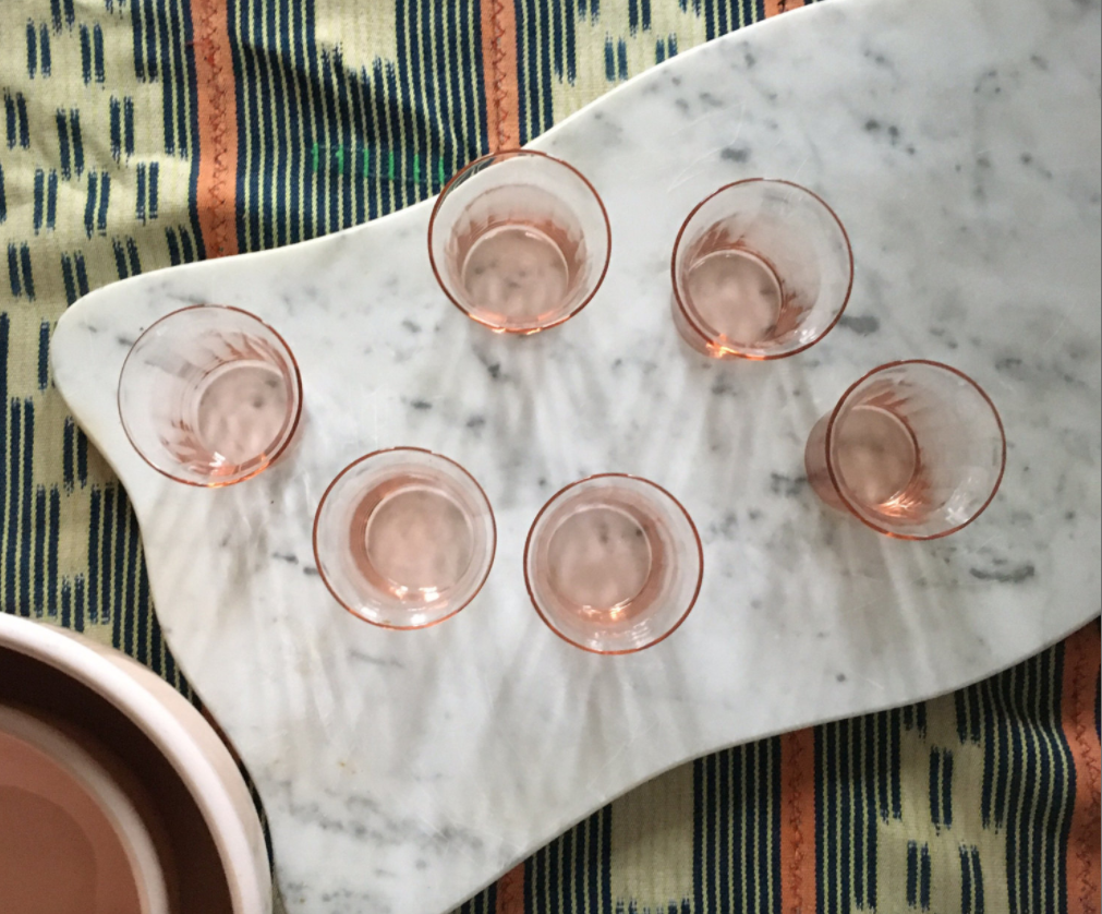 Set of Blush Pink Bar Glasses - Mamakea