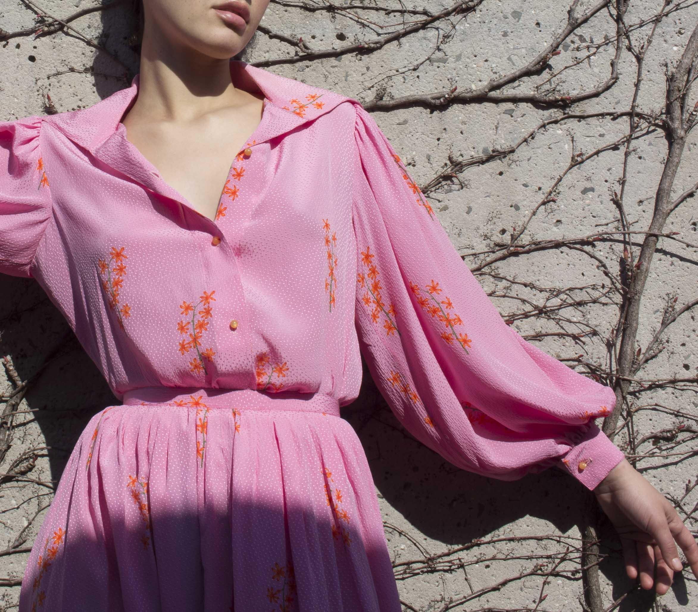1970s Geoffrey Beene Silk Set