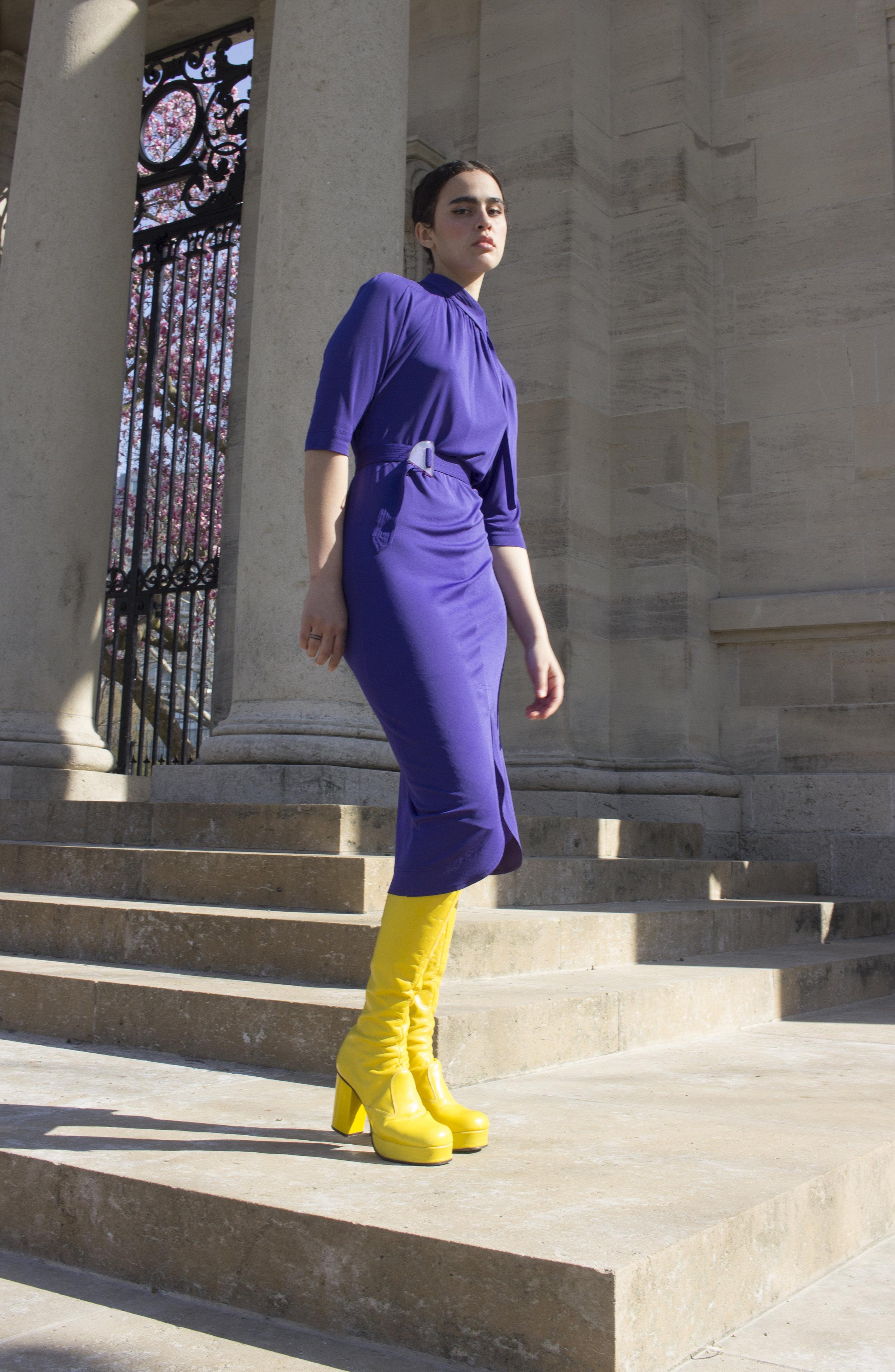 1970s Jean Muir Matte Jersey Dress