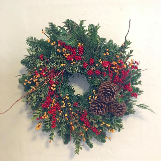 Another satisfied customer sends in a picture of their wreath on the wall!  Holiday Wreaths available now at mywreaths.com