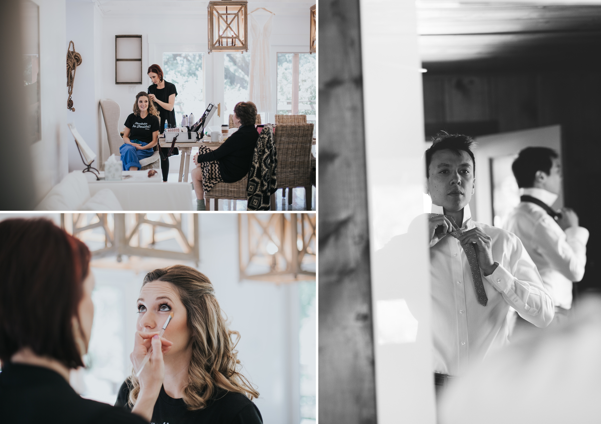 Ru's farm Wedding | Healdsburg CA | bride and groom getting ready