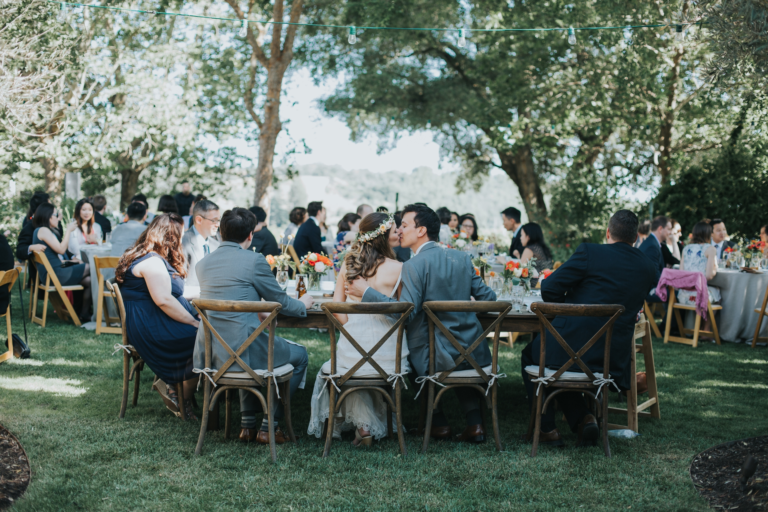 Ru's farm Wedding | Healdsburg CA | Bride and groom