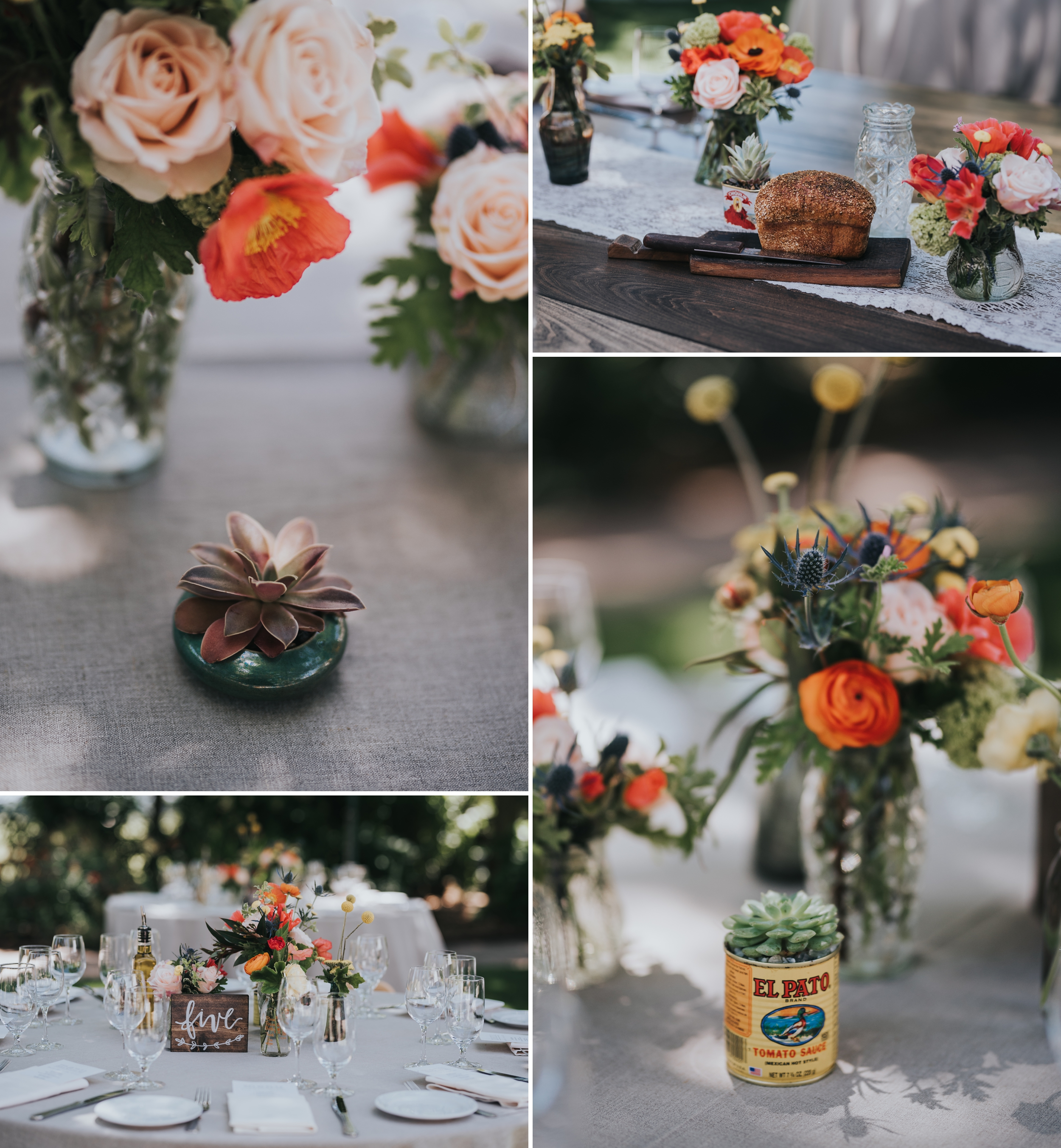 Ru's farm Wedding | Healdsburg CA | details | heard wedding consulting | Catherine Scott Flowers