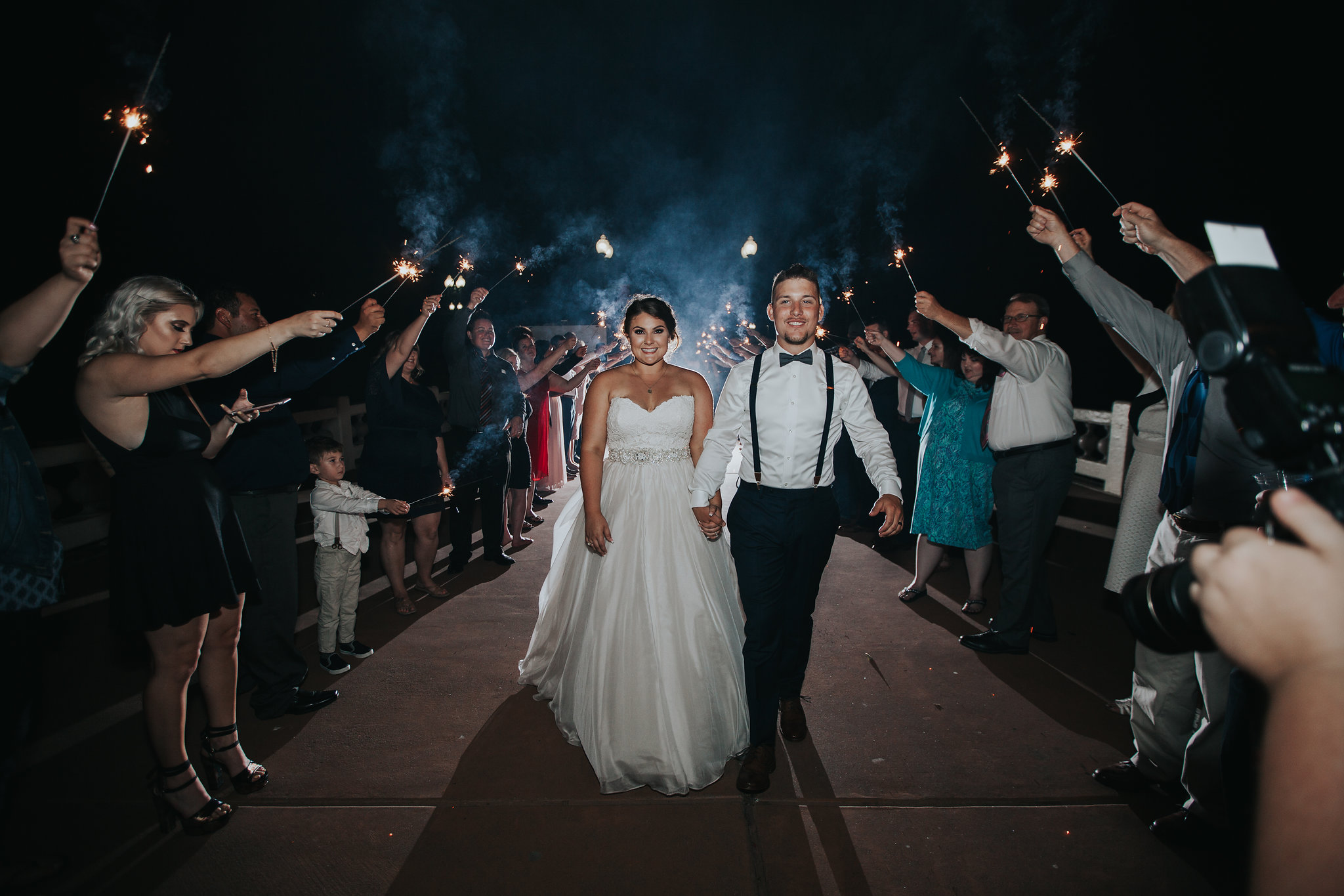 wedding photography | Vacaville Opera House Wedding | sparkler exit | Vacaville and Sacramento