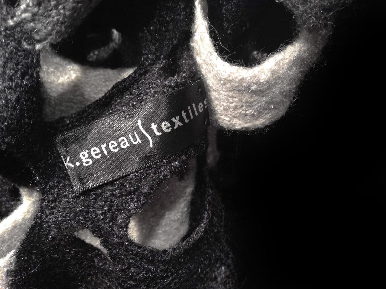 Close Up of K.Gereau Textiles logo