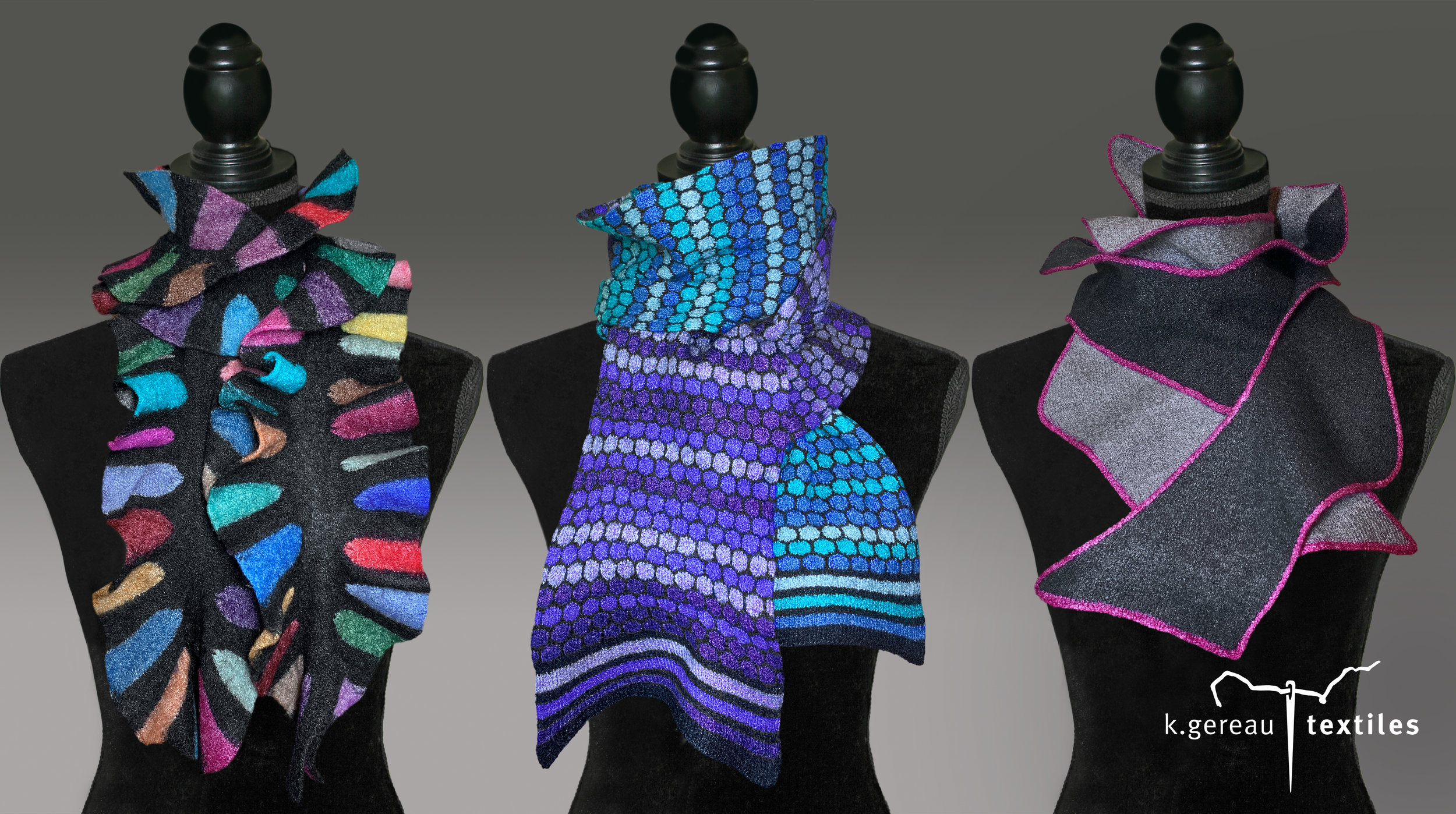 K.Gereau Textile Three Scarves