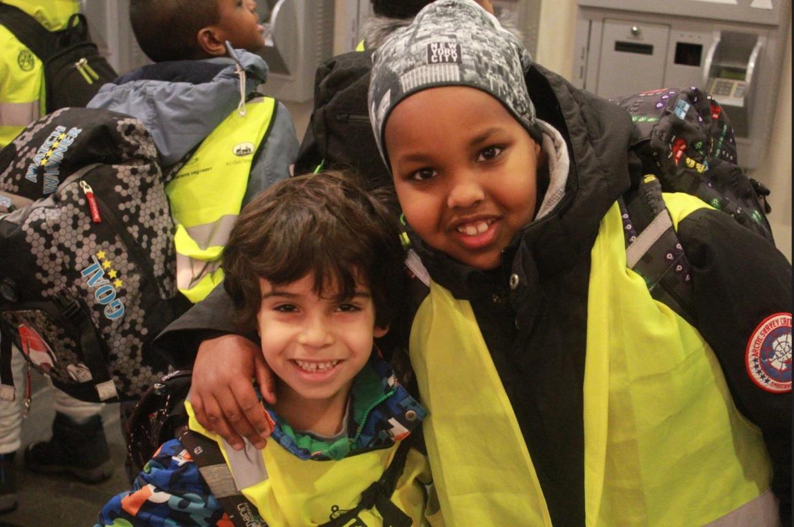 Barn fra Tøyen skole var blant deltakerne på barne- og ungdomsdagen.