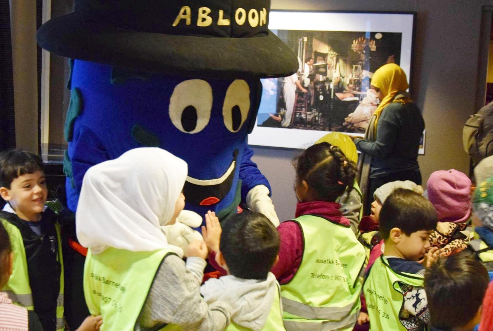 Barna storkoste seg på Barnehagens dag under Abloom Filmfestival 2018.