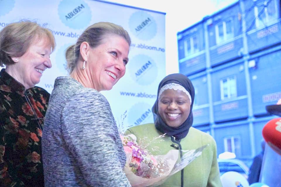 Ordfører Marianne Borgen, Prinsesse Märtha Louise og Abloom-leder Faridah S. Nabaggala på Abloom Filmfestival 2018. Bli med på 2019-festivalen i november!
