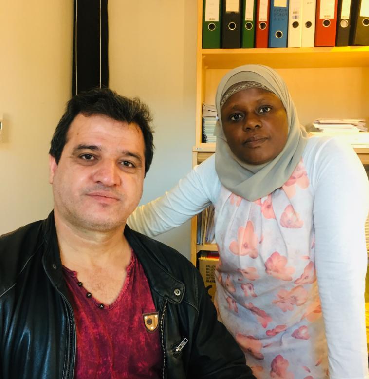 Zana og Faridah på Ablooms kontorer på Youngstorget.