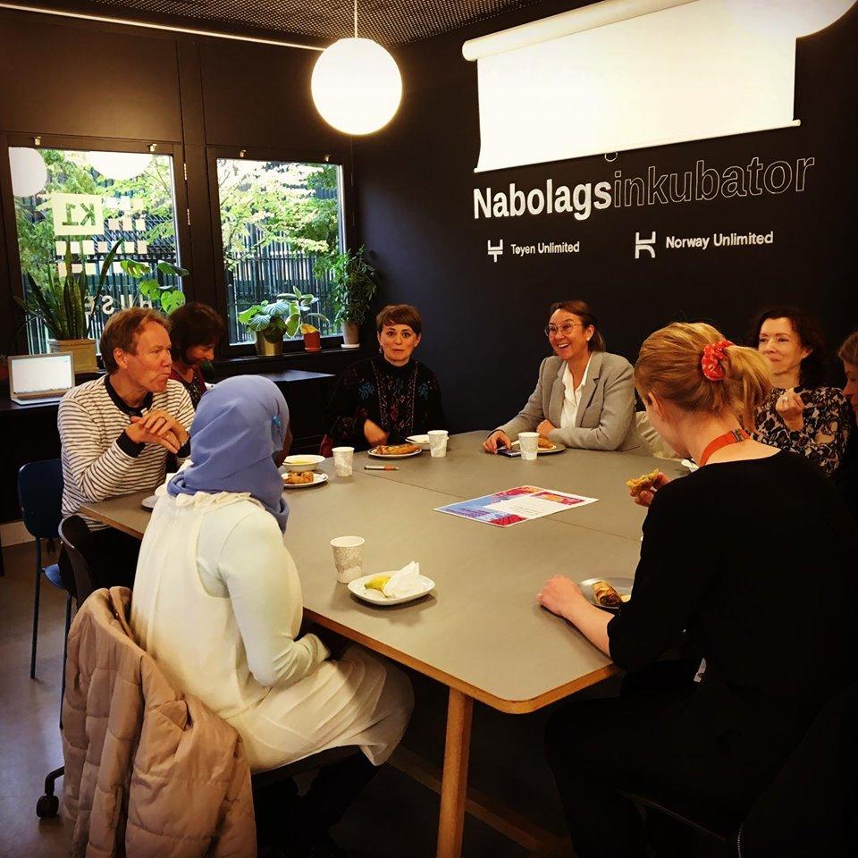 Faridah under møtet med Socialforvaltningen i Stockholm.