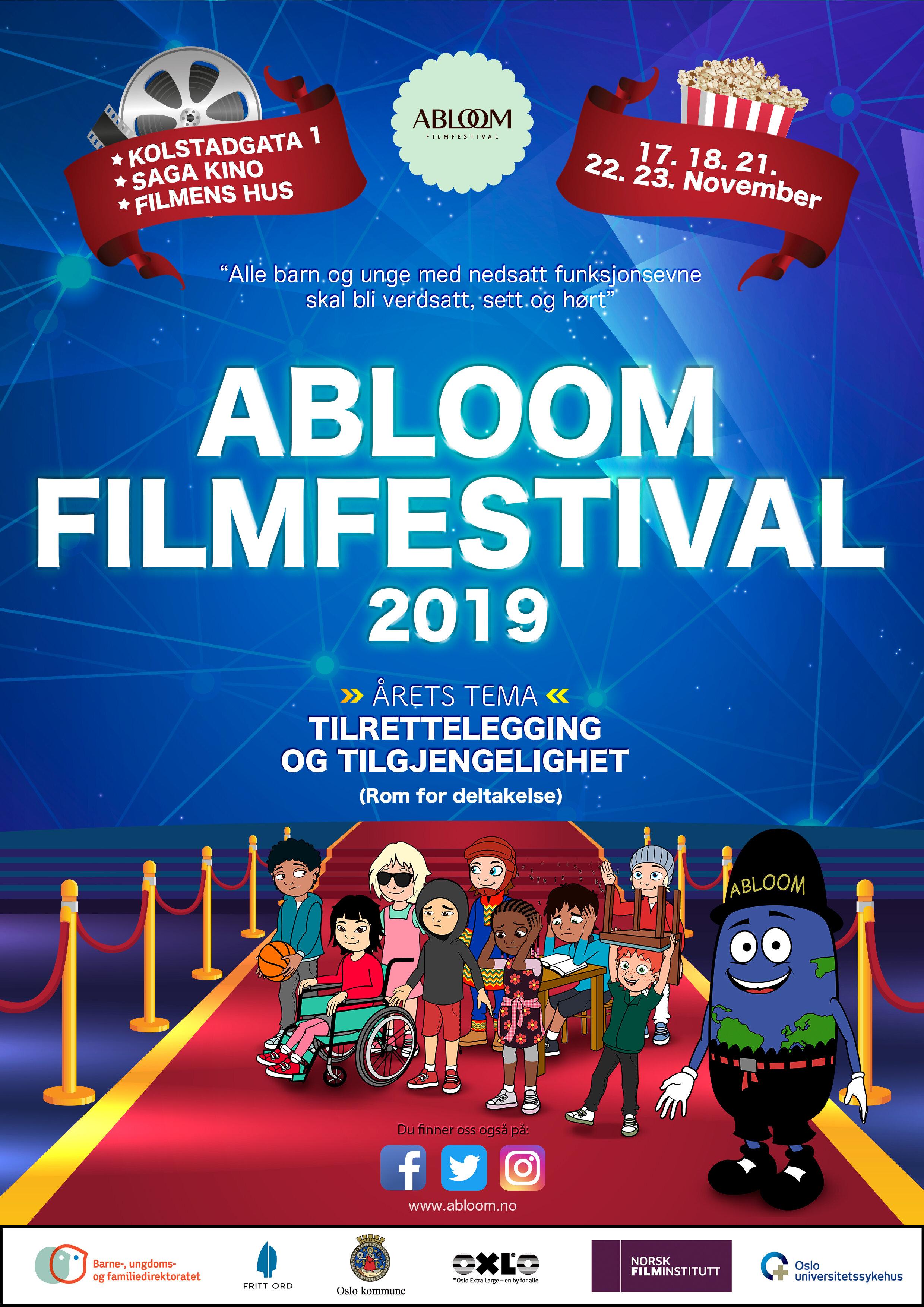 Plakaten for Abloom filmfestival 2019.