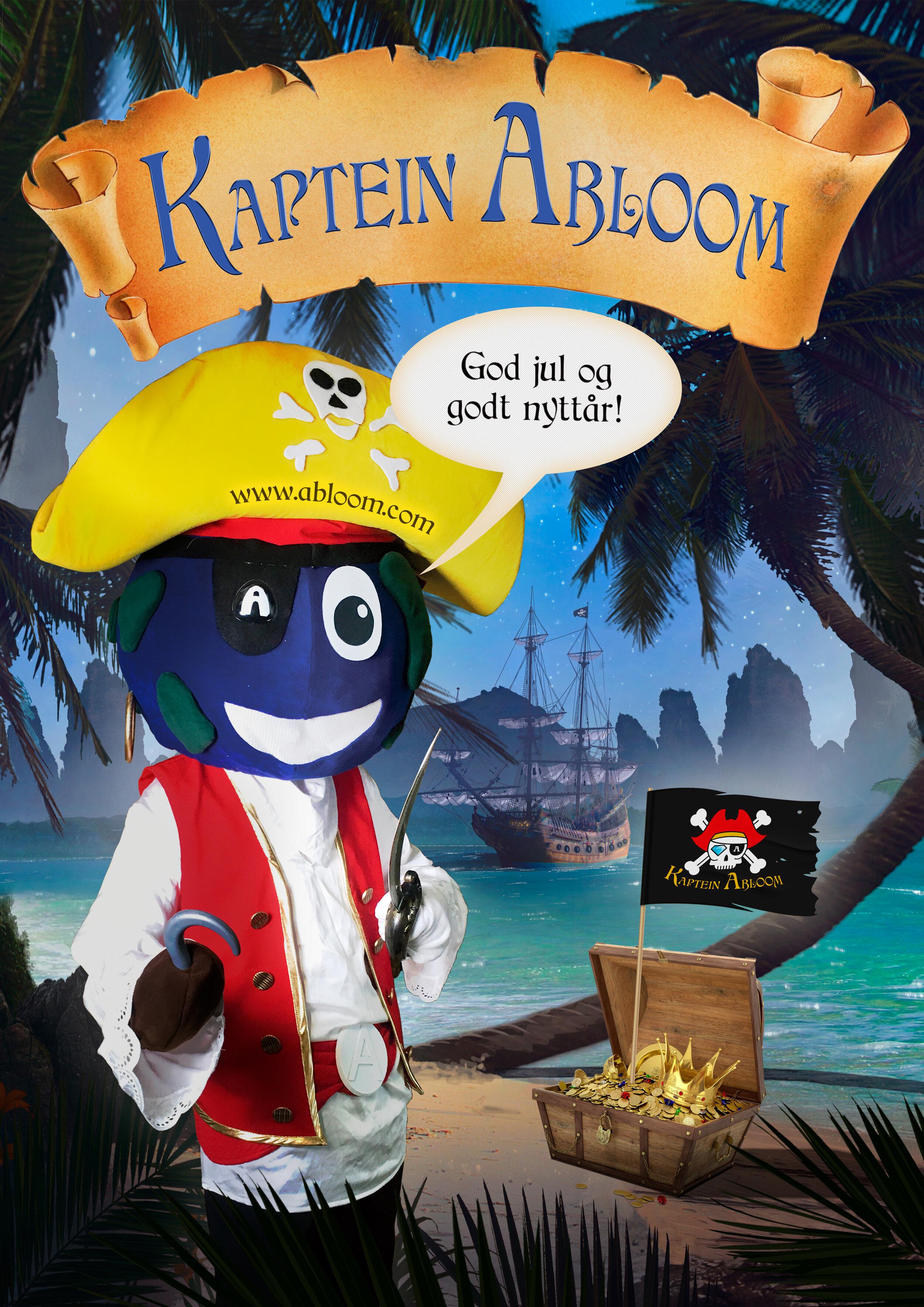 Kaptein Abloom ønsker alle en god jul og et godt nytt år.