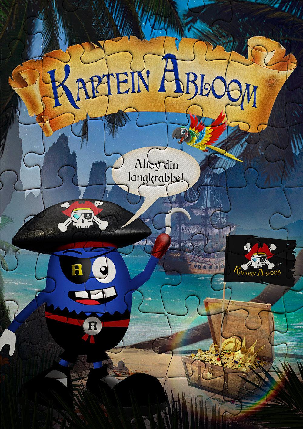 Kaptein Abloom fant skatten puslespill.jpg
