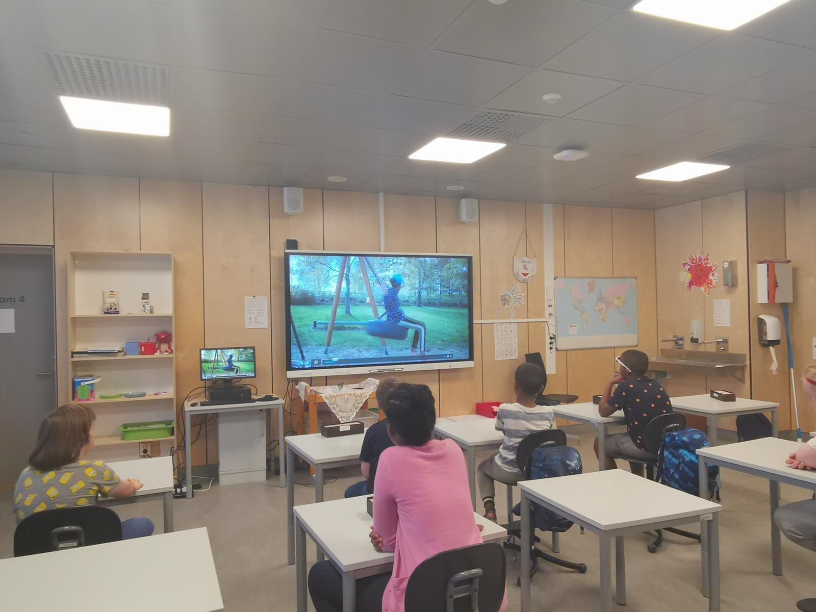 Elever under Mini Abloom virtuell 2020.