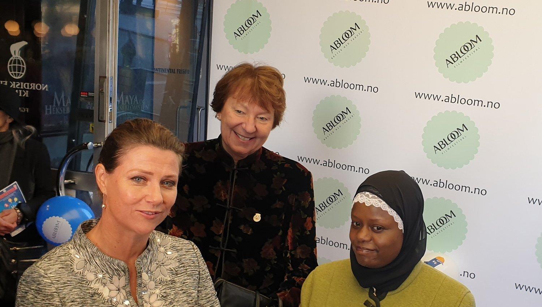 STORFINT BESØK: Prinsesse Mãrtha Louise, Oslo-ordfører Marianne Borgen og Faridah Nabaggala på Ablooms fagkonferanse