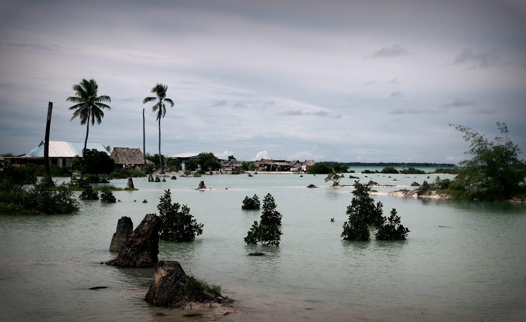 Kiribati after a recent King Tide. Photo by FentonLutunatabua.
