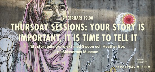MPP co-founder, Heather Box, is in Sweden this week working with Caledonia Curry (aka Swoon) on a refugee storytelling and art project.