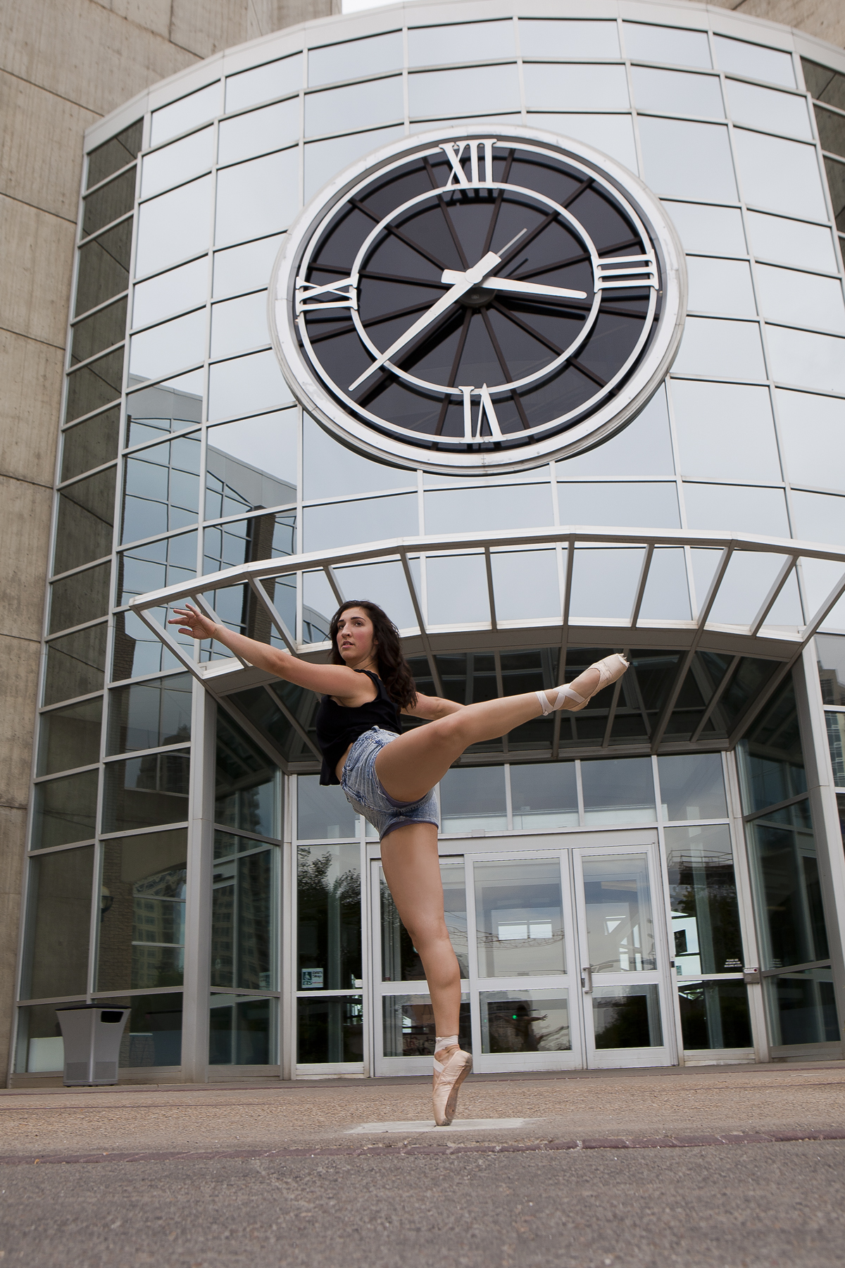"""We then moved to the clock tower at Grant MacEwan University. I must have said """"one more shot"""" about 10 times!"""