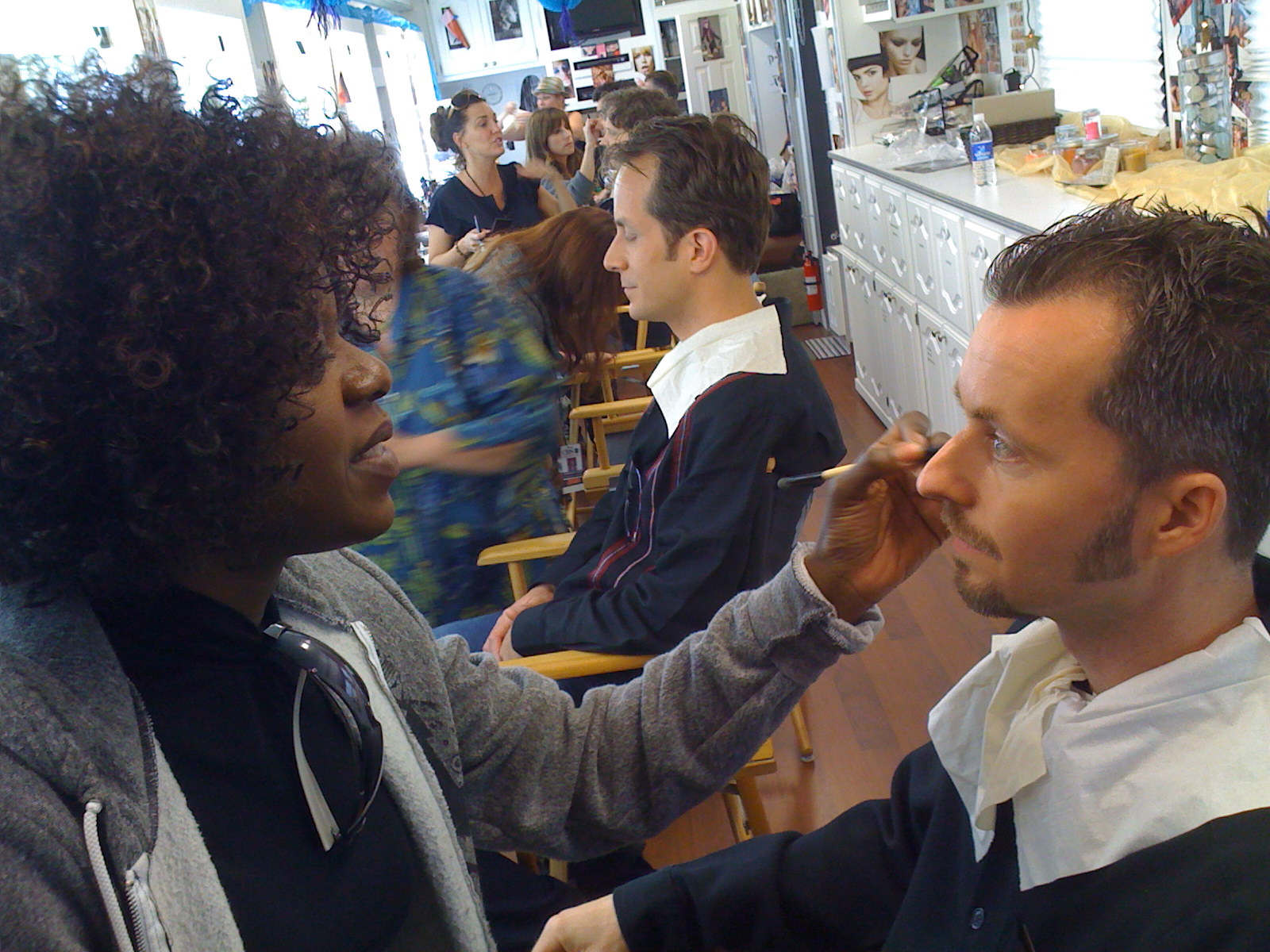 Dancing With The Stars makeup room.