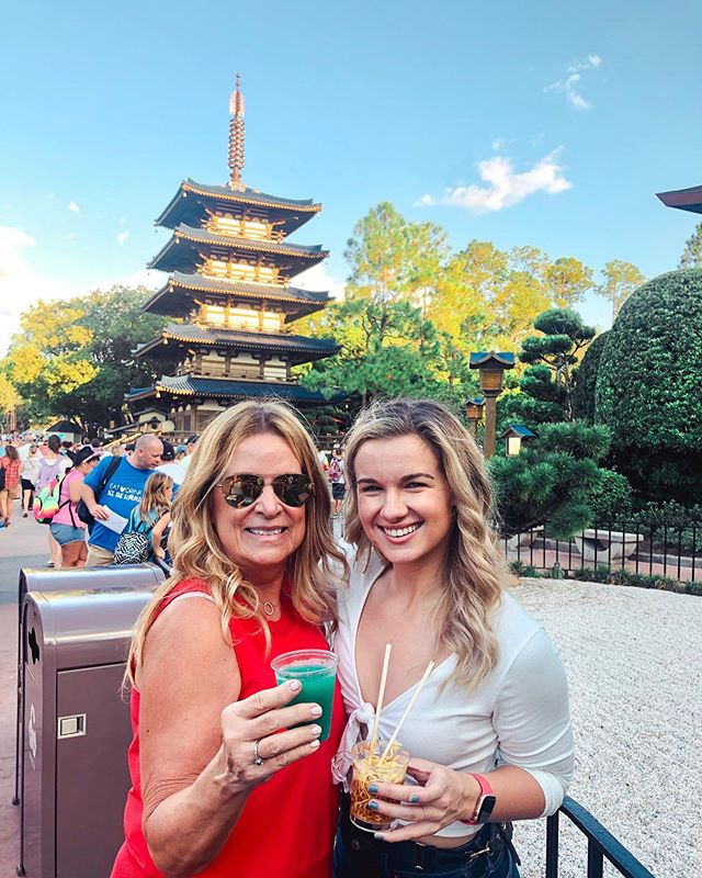 epcot's food & wine festival, feat. weird blue sake cocktail & ramen noodles w/ cold foam! 🤢 not pictured: everything else we ate and drank that was actually appetizing oops #epcotfoodandwine